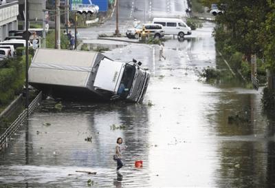 25年来最强台风袭日死伤逾600人 日观光地遭重击